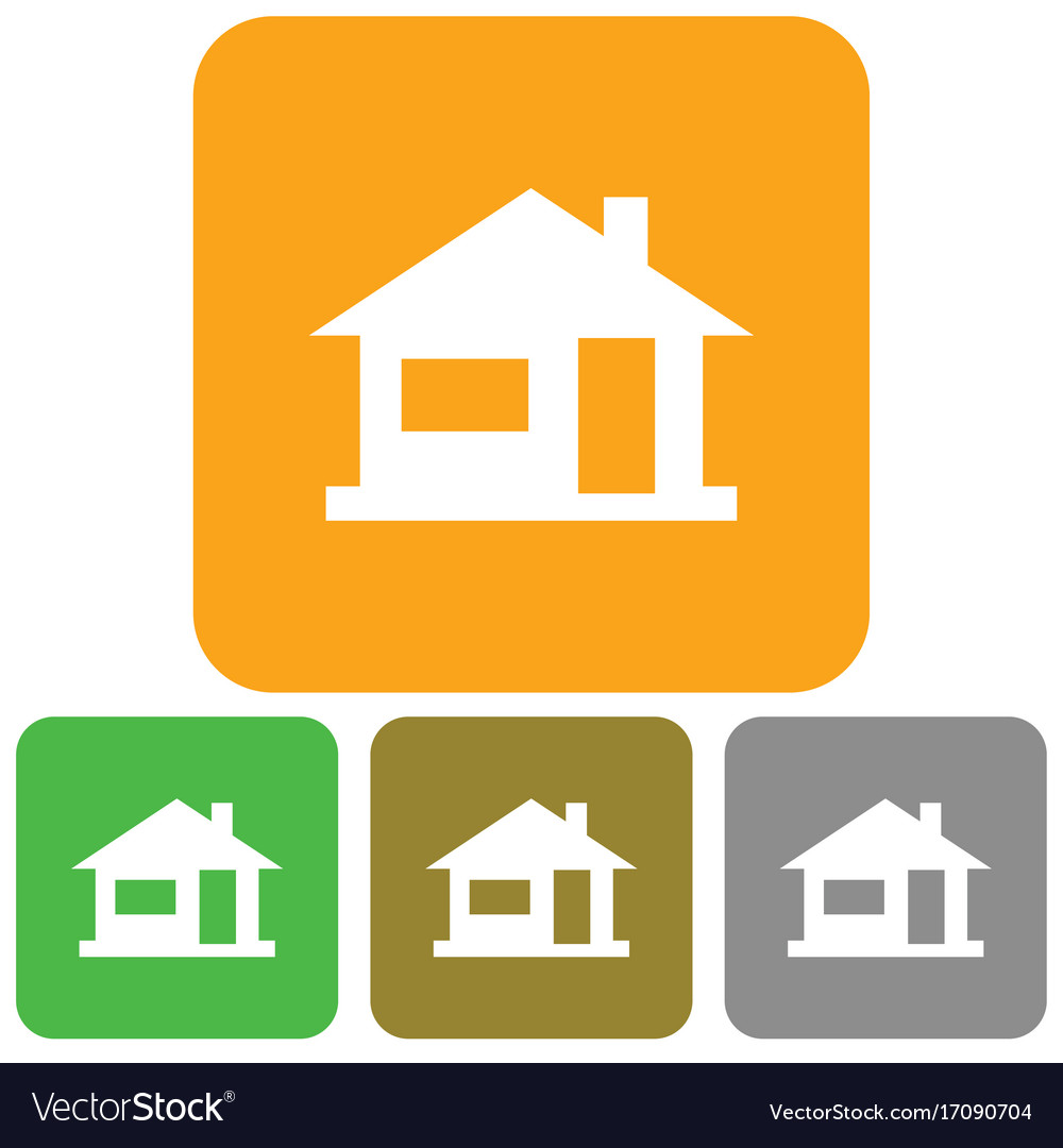 Home icon house silhouette vectorimage