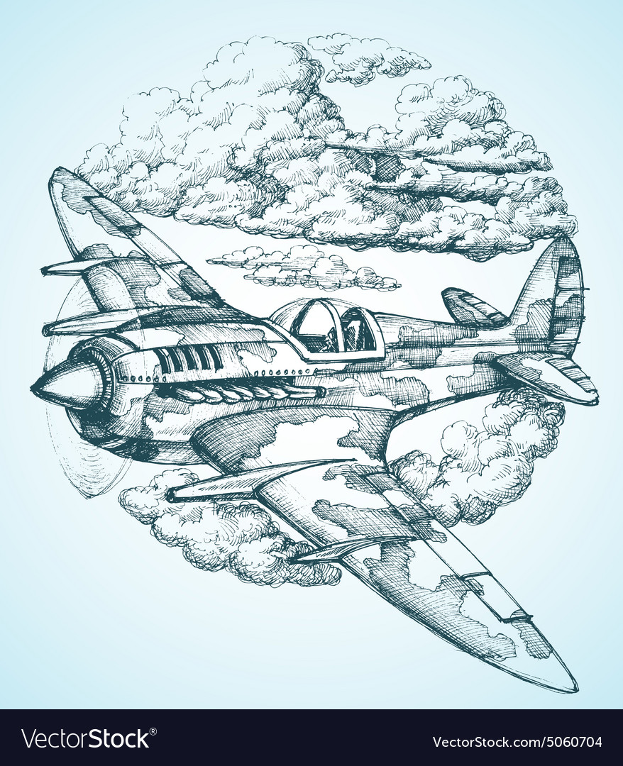 Plane in the sky round icon vector image