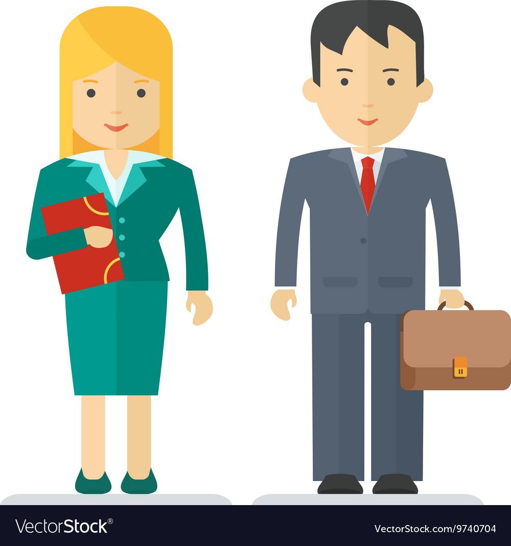Profession businessman and businesswoman
