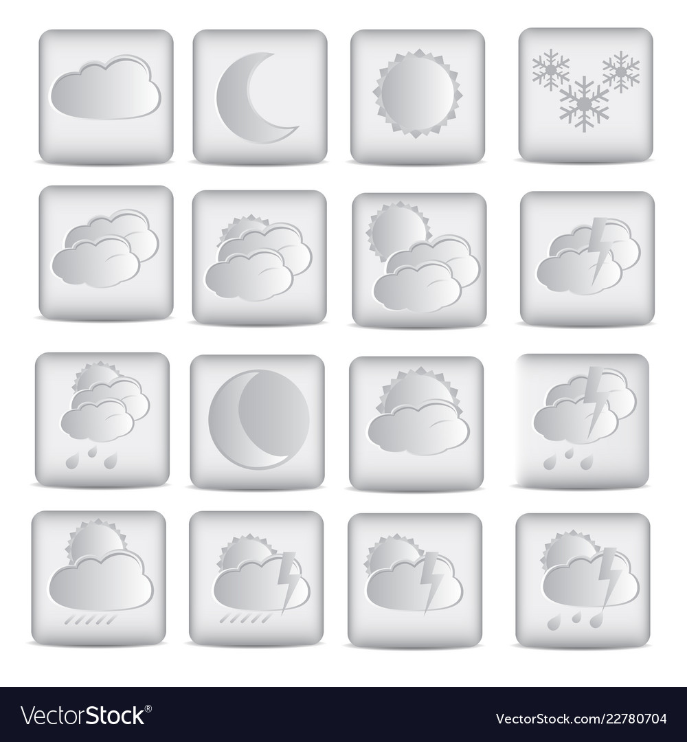 Weather icons design in white color