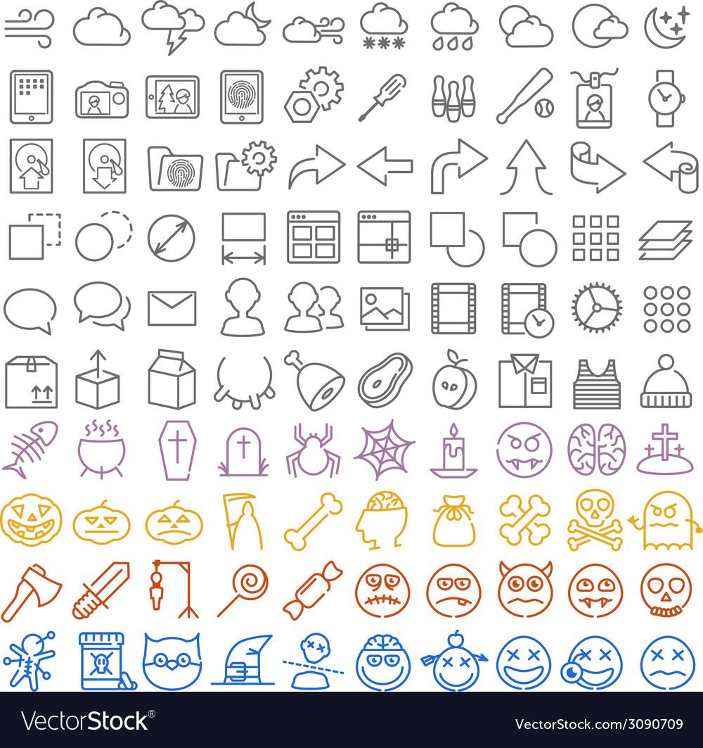 100 icons set