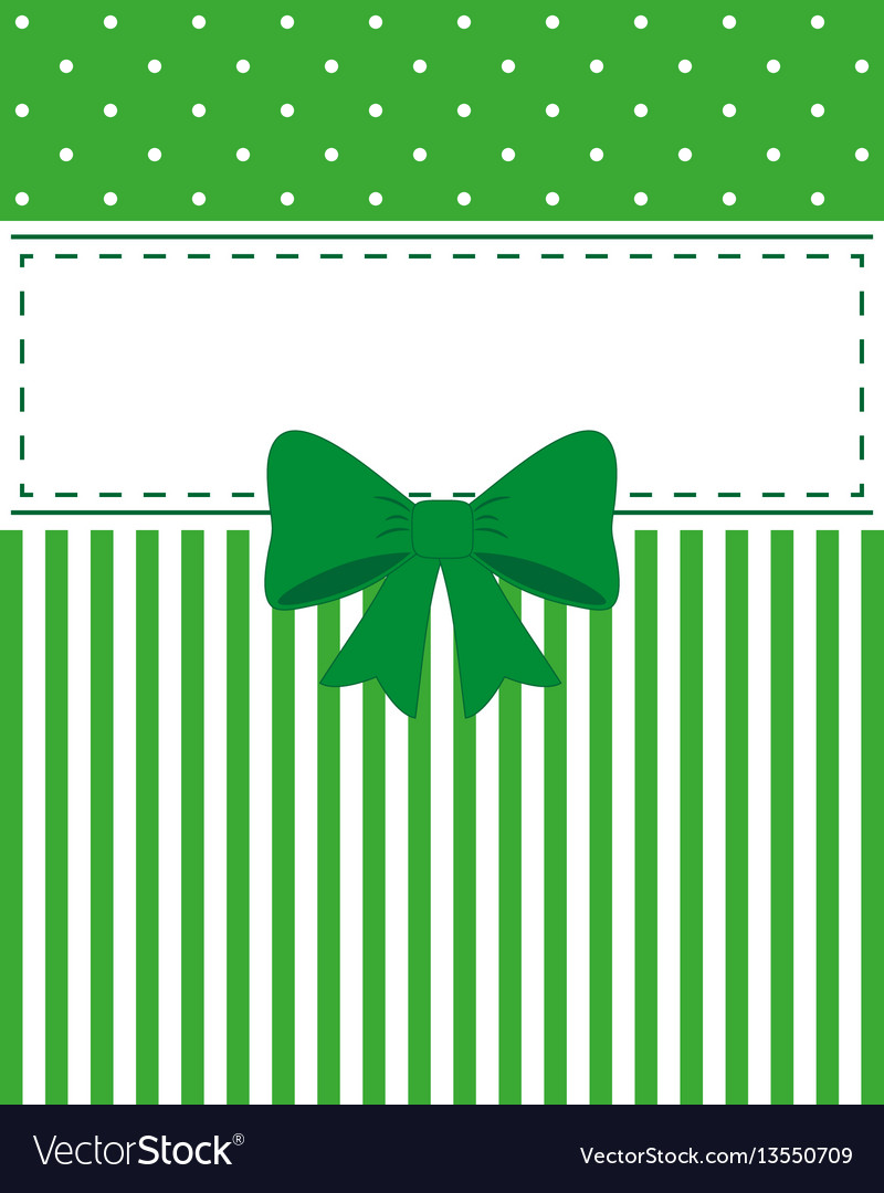 Card invitation green