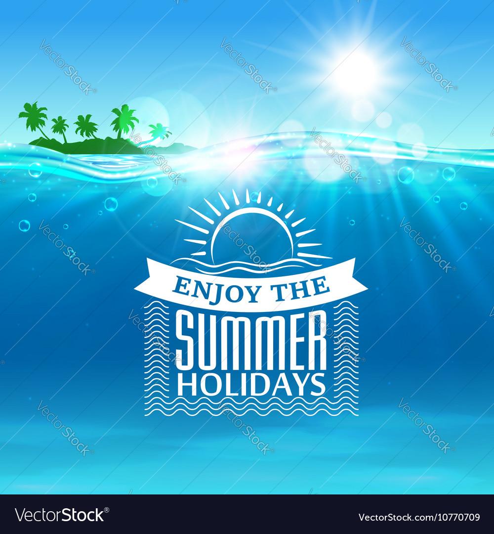 Enjoy summer holidays travel poster background