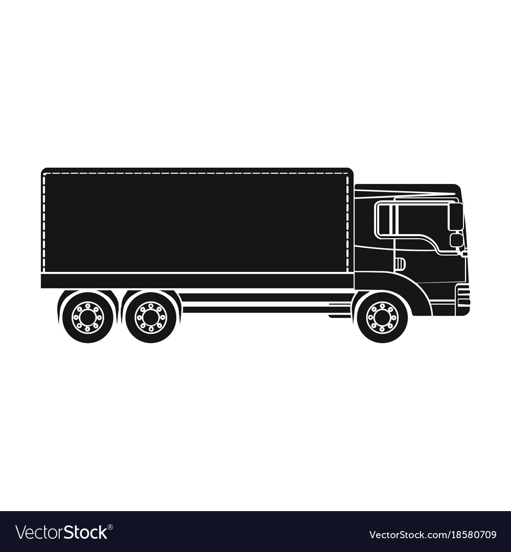 Freight car single icon in black style for design