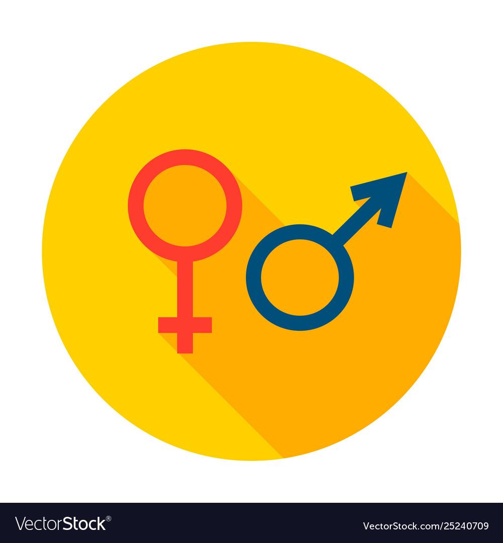 Male female sign circle icon