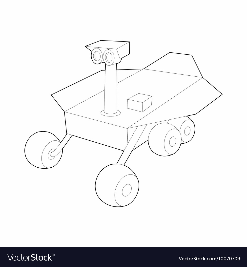 Mars exploration rover icon outline style