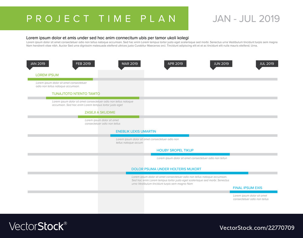 project time plan gantt graph royalty free vector image