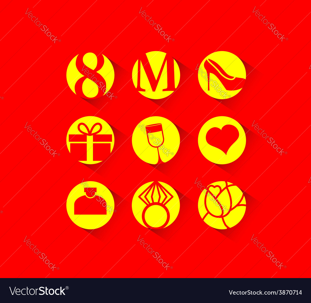 8 March international womens day icon vector image