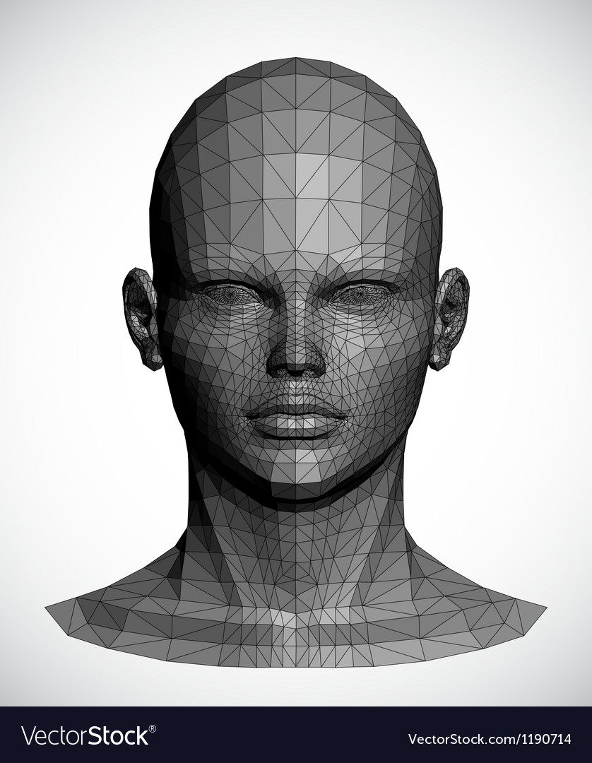A gray female head