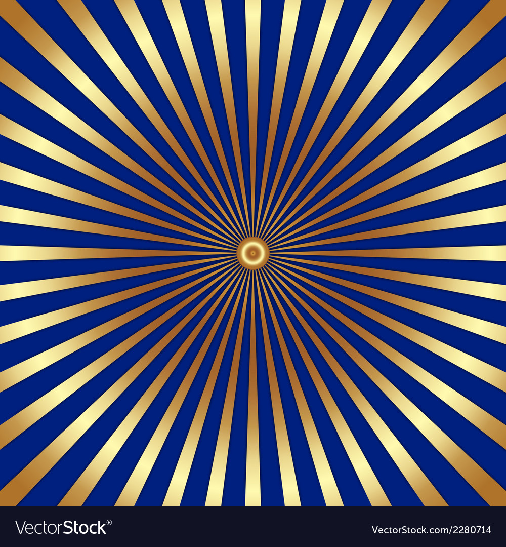 abstract dark background with golden rays vector image