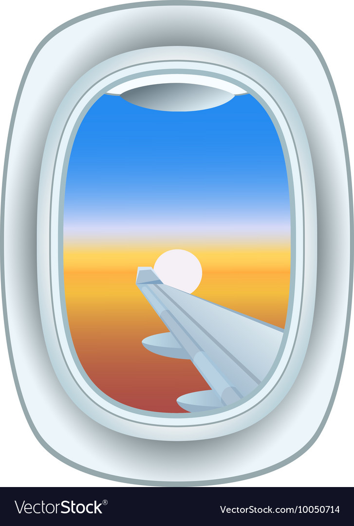 Airplane Window View Royalty Free Vector Image