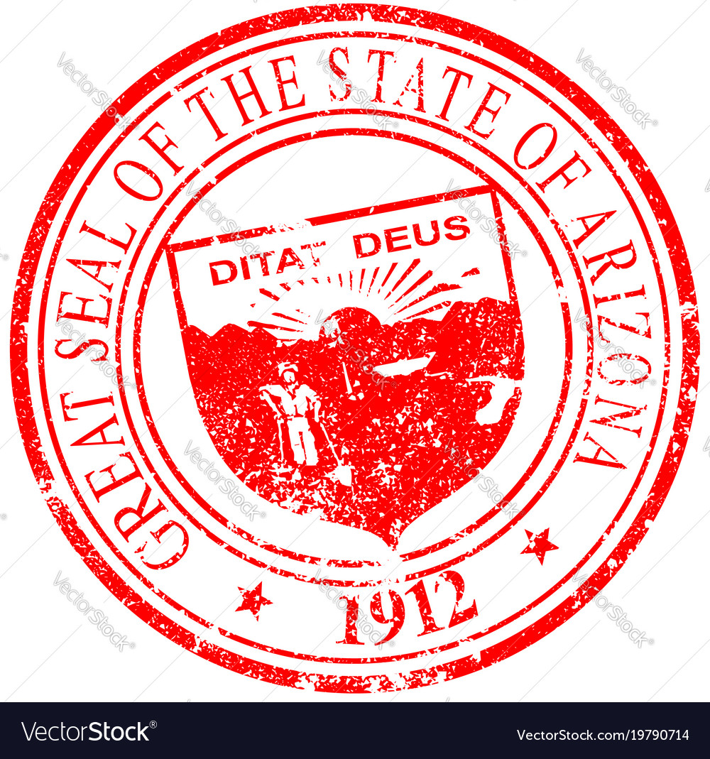 f8b7de8647fc Arizona seal rubber stamp Royalty Free Vector Image