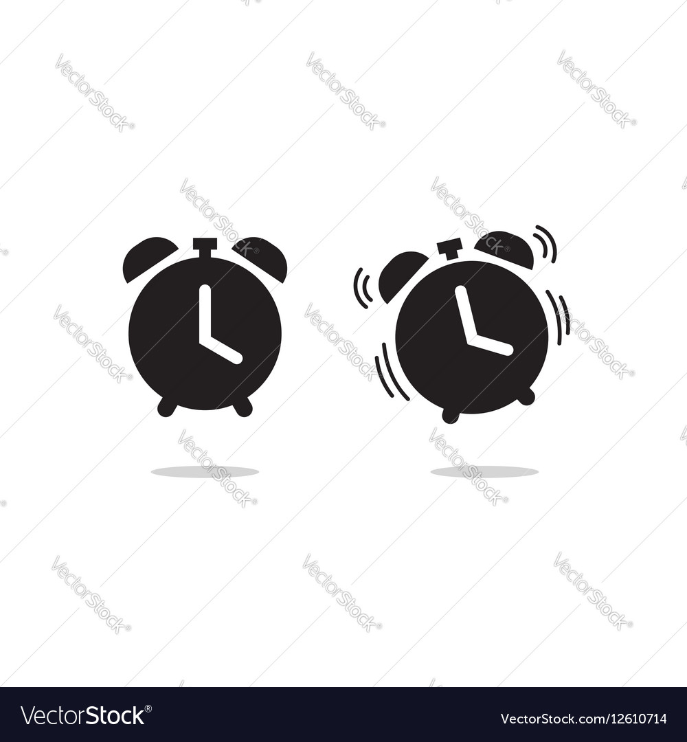 Clock alarm ringing icon isolated on white vector image