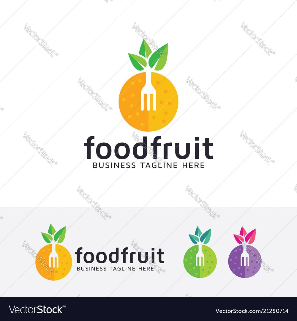 Food fruit logo design
