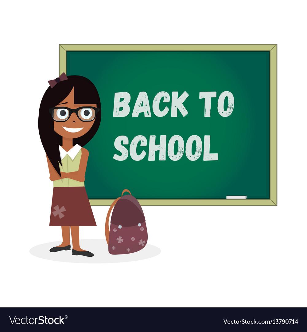 Kids template girl back to school