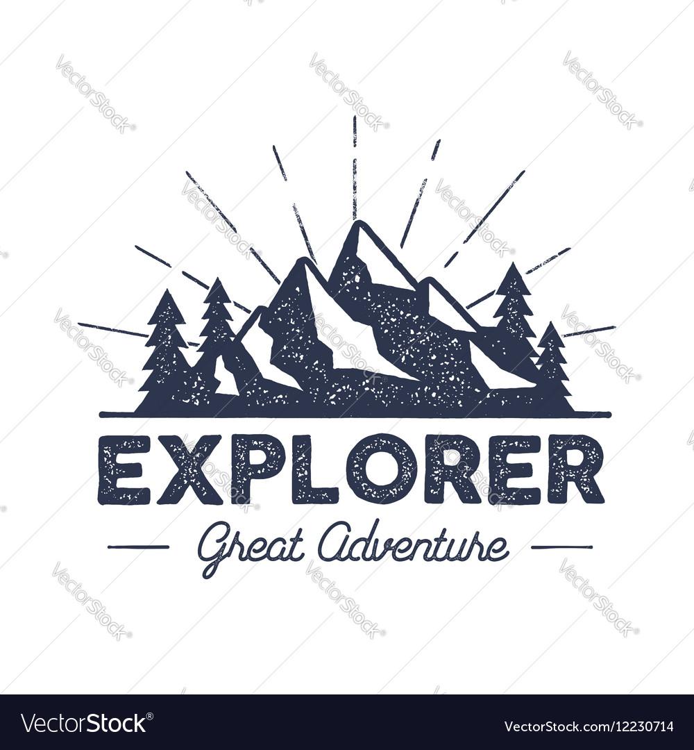 Outdoor explorer badge retro