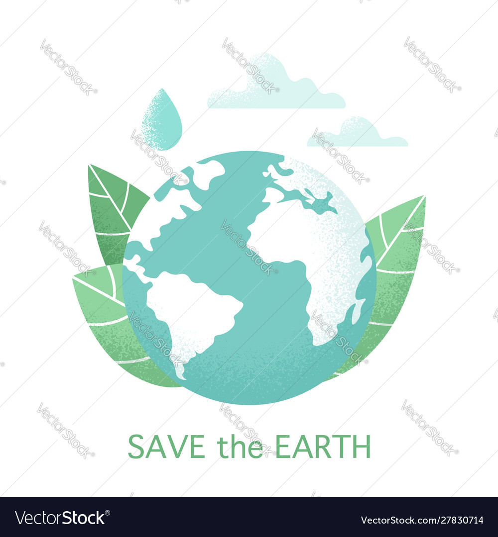 Planet earth design isolated on white background