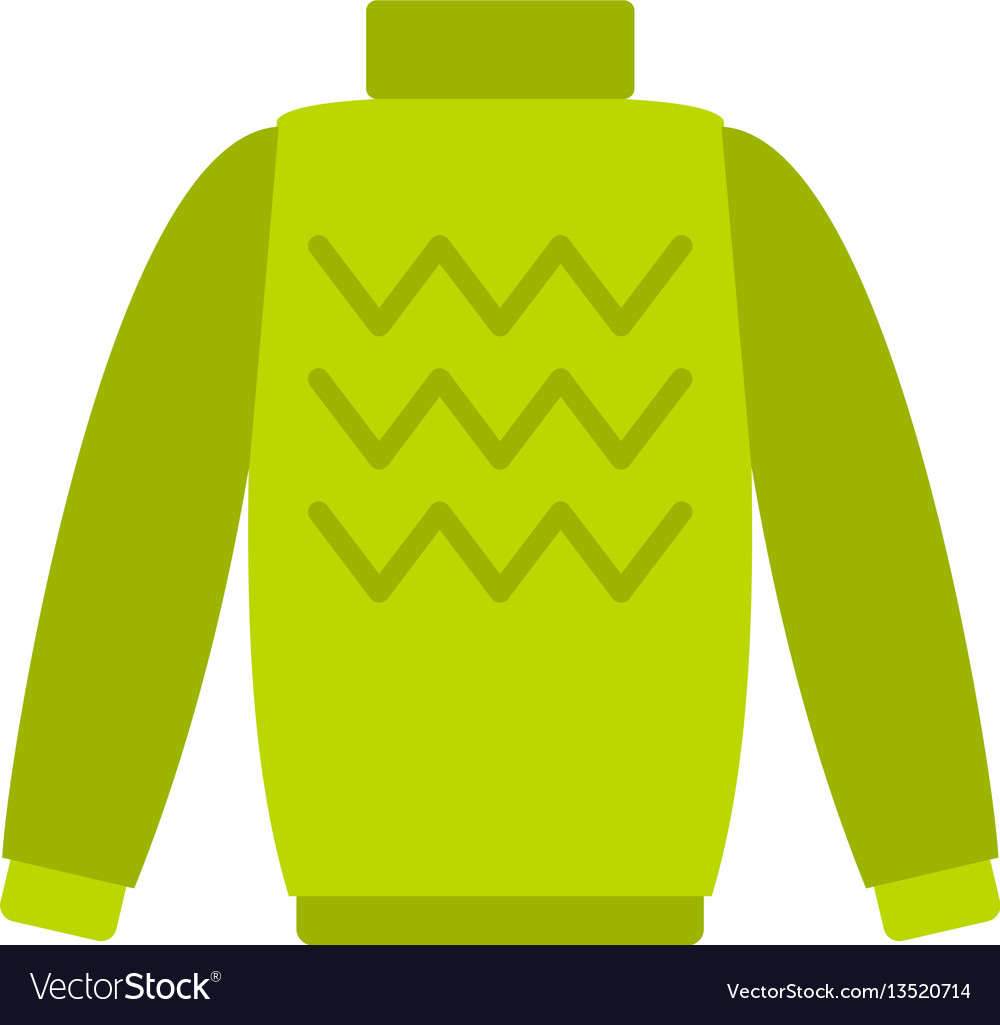 Pullover icon flat style vector image