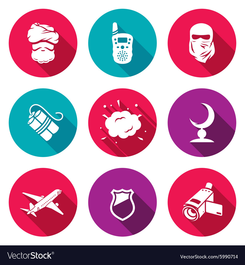 Threat to life Icons Set vector image