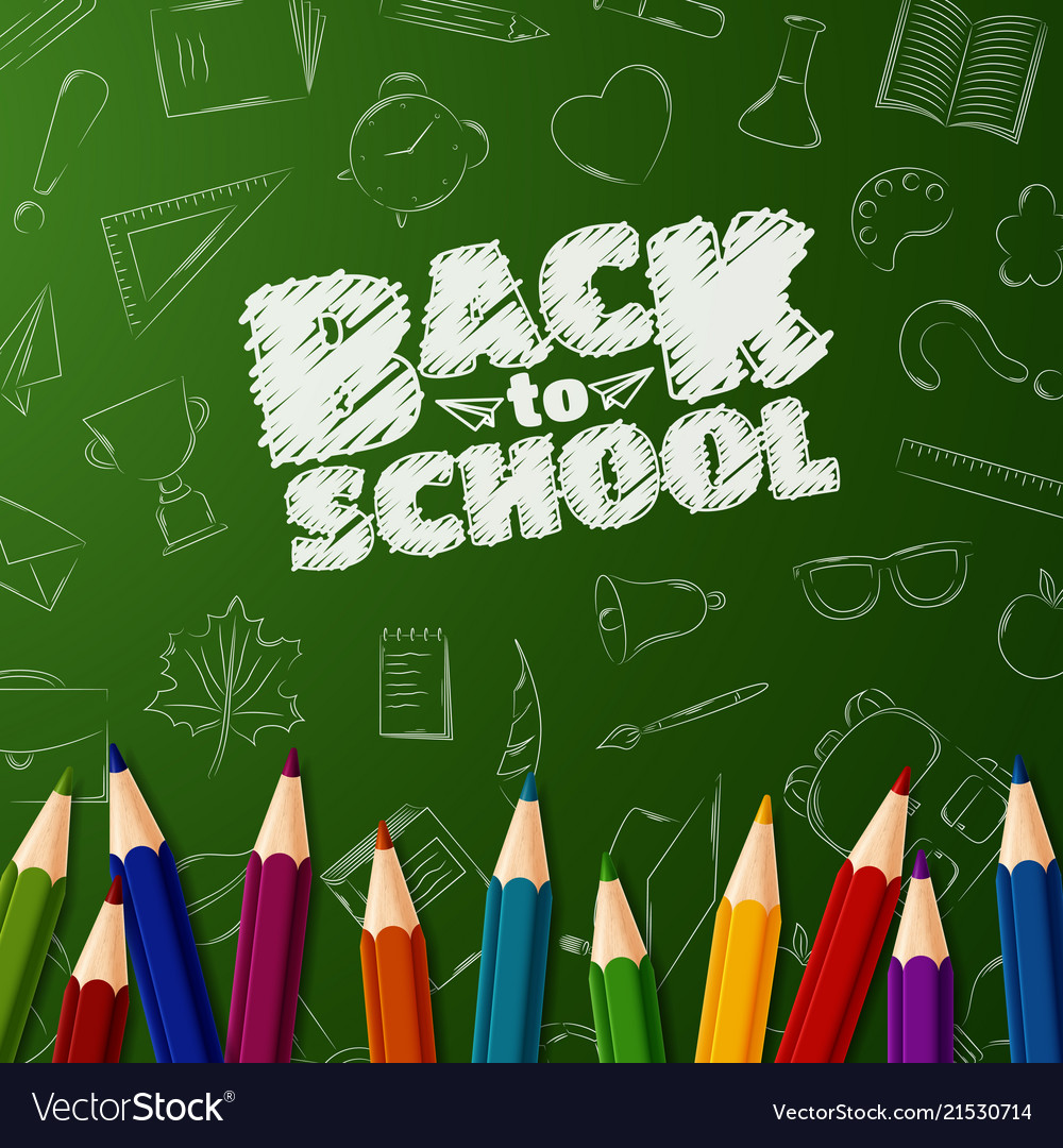 Welcome back to school background with doodle