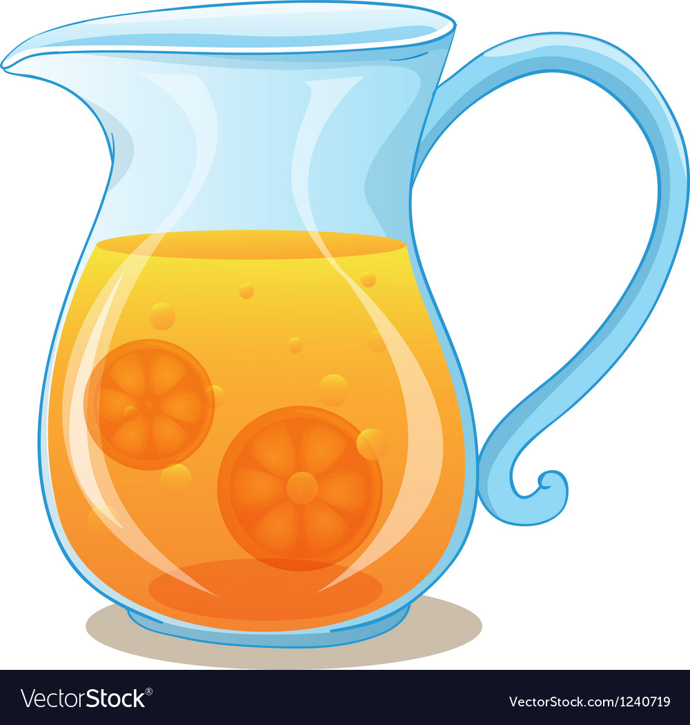 a pitcher of orange juice royalty free vector image