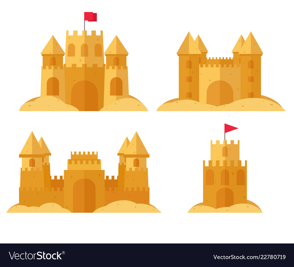 Beach sandcastle set