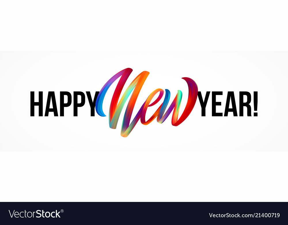 Happy new year lettering on the background with a