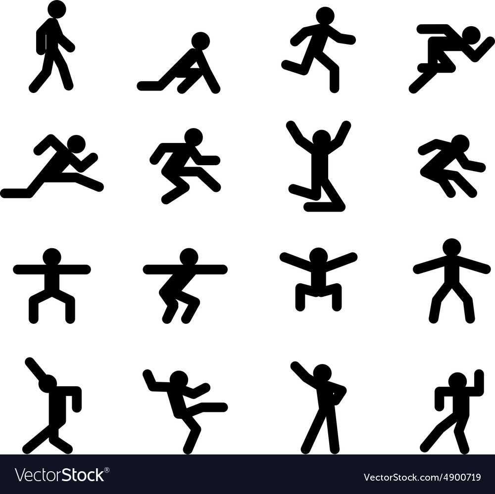 Human action poses Running walking jumping and