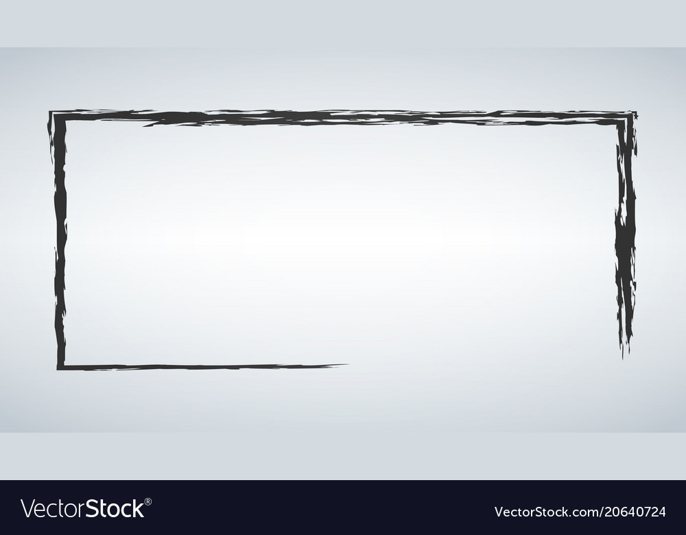 Black frame in the grunge style vector image