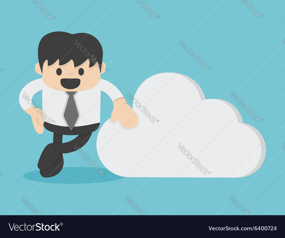 Business with Cloud computing business concept