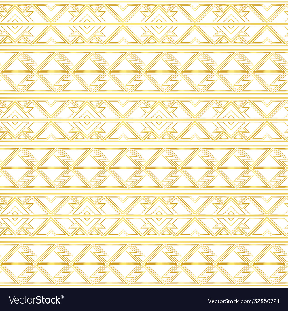 Gold border seamless pattern