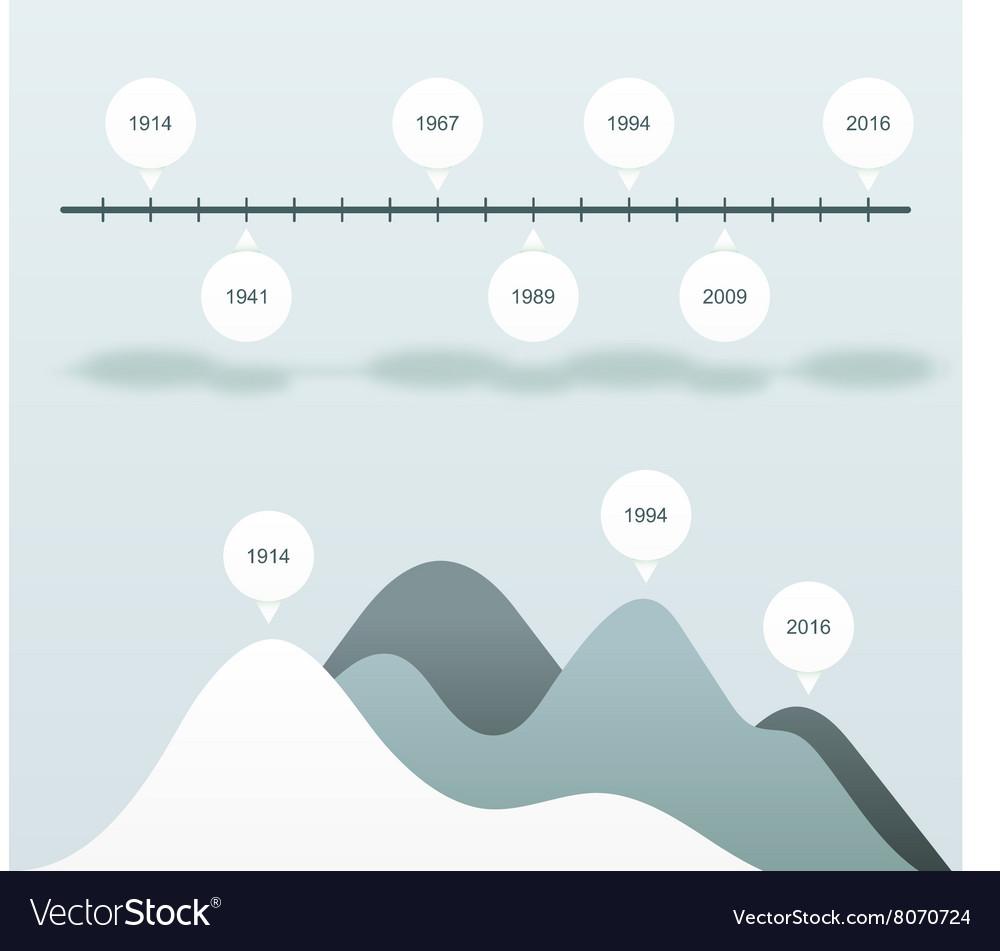 Set infographics status bar Blue statistics charts