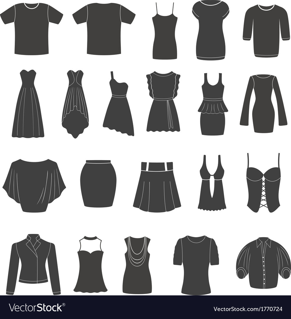 Set of women s and men s clothing vector image