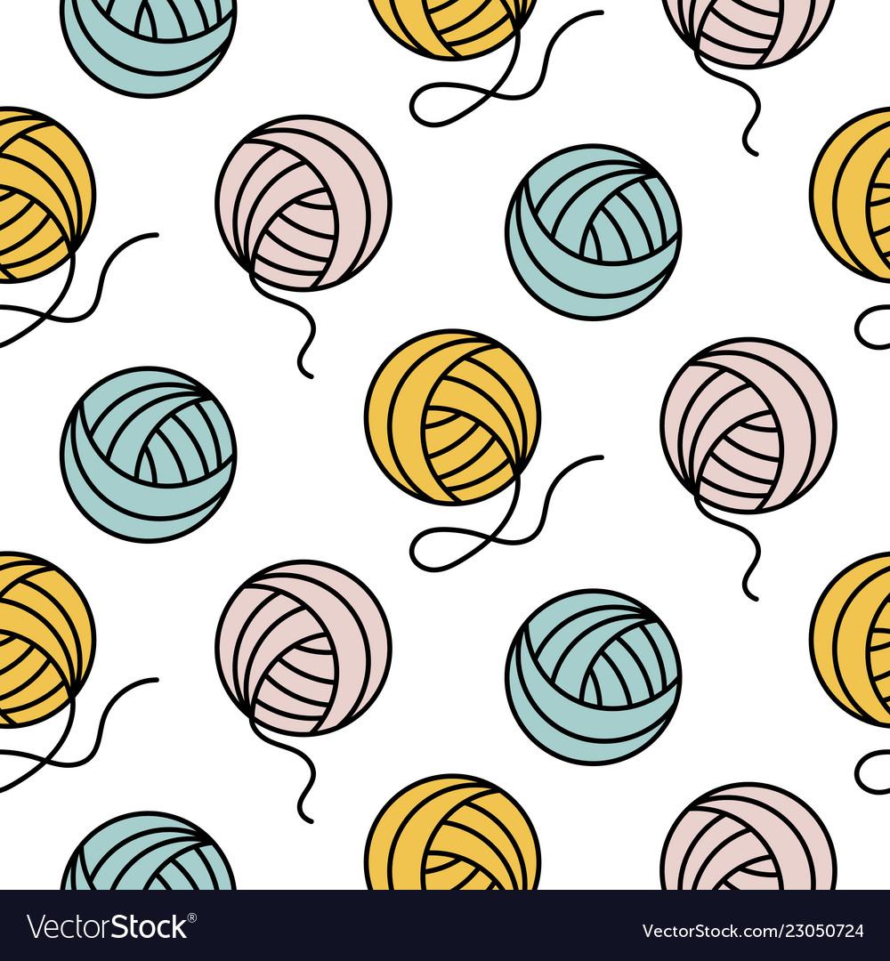 Yarn ball pattern for girls prints