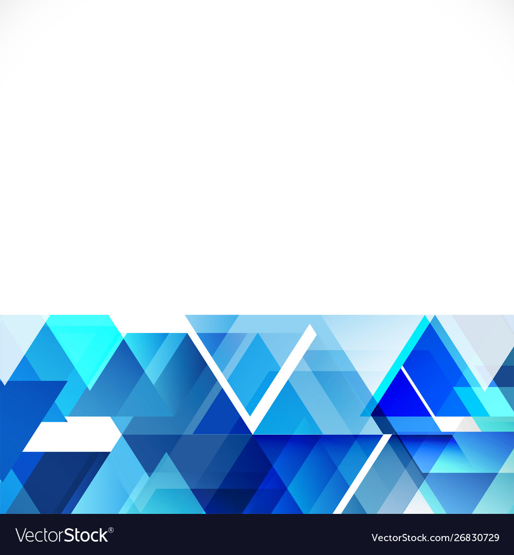 Abstract blue tone geometric layout template and