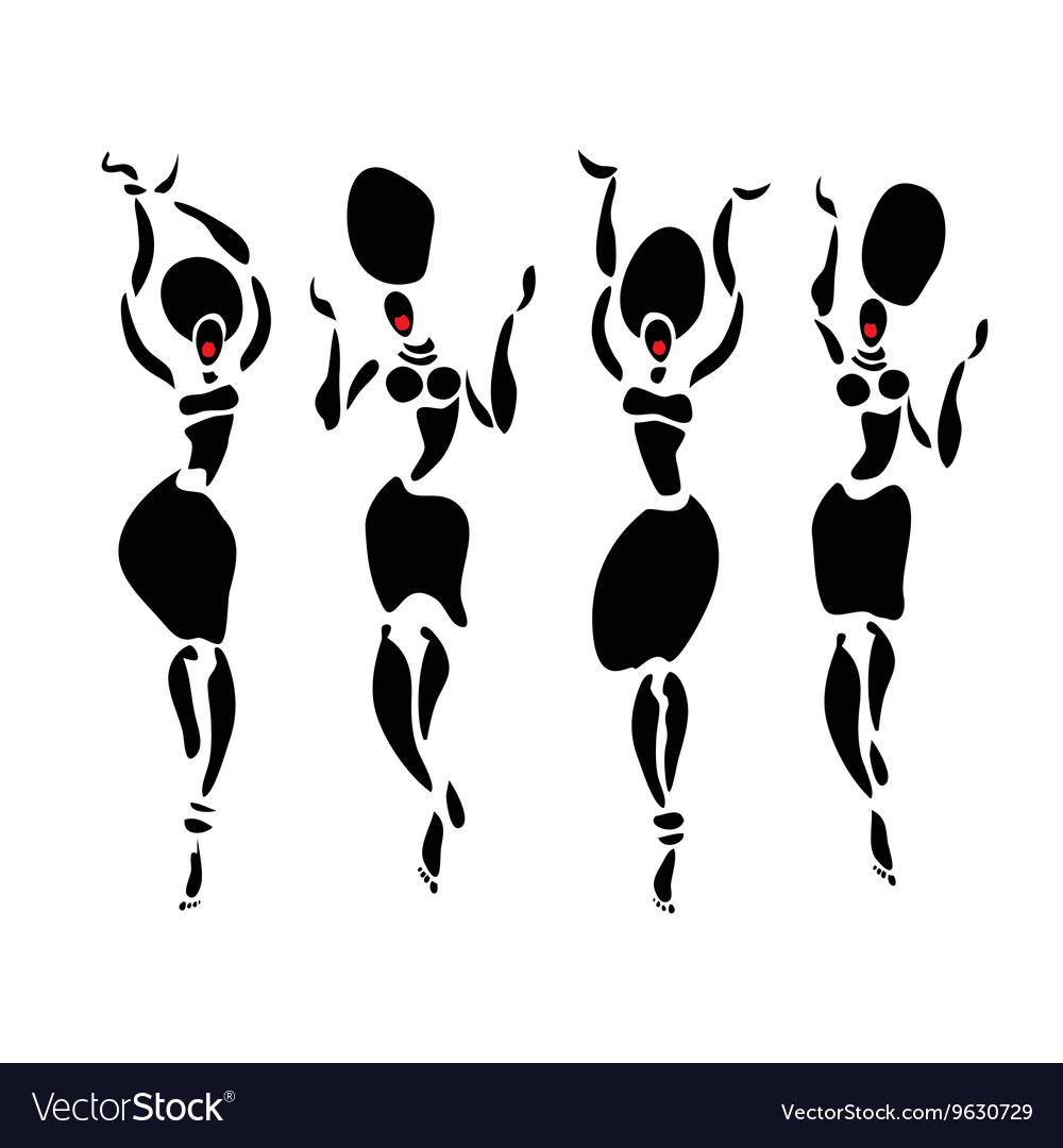 African Beautiful dancers Women