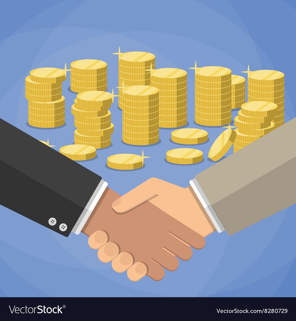 Cartoon businessmen handshake vector image