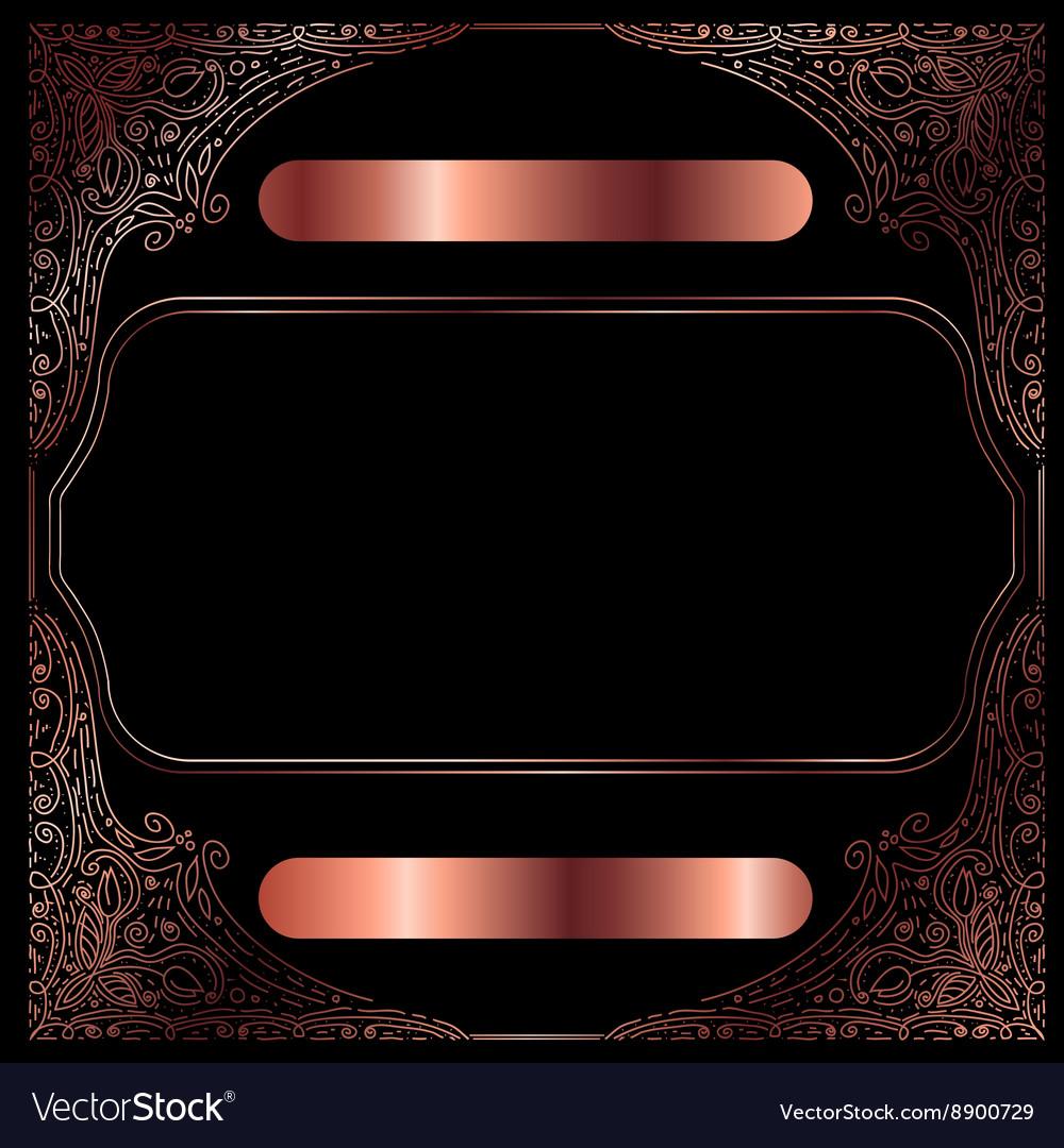 Copper Vintage Decorative Frame vector image