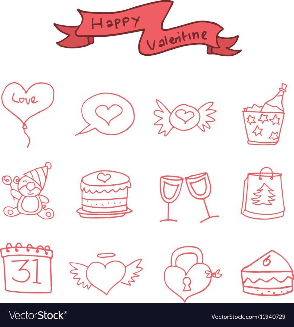 Icon of Valentine day element