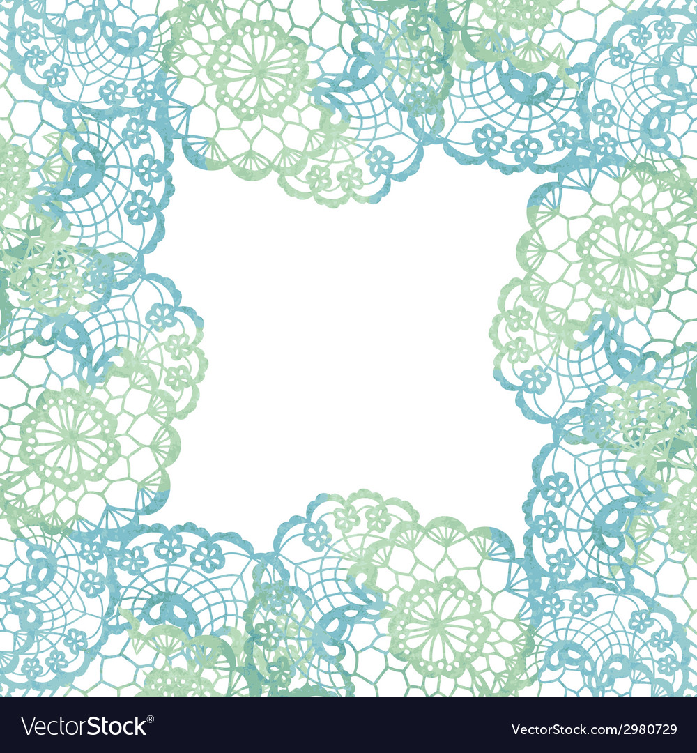 Lacy elegant frame Invitation card vector image
