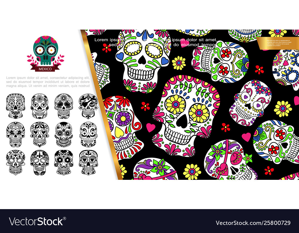 Mexican day of the dead concept