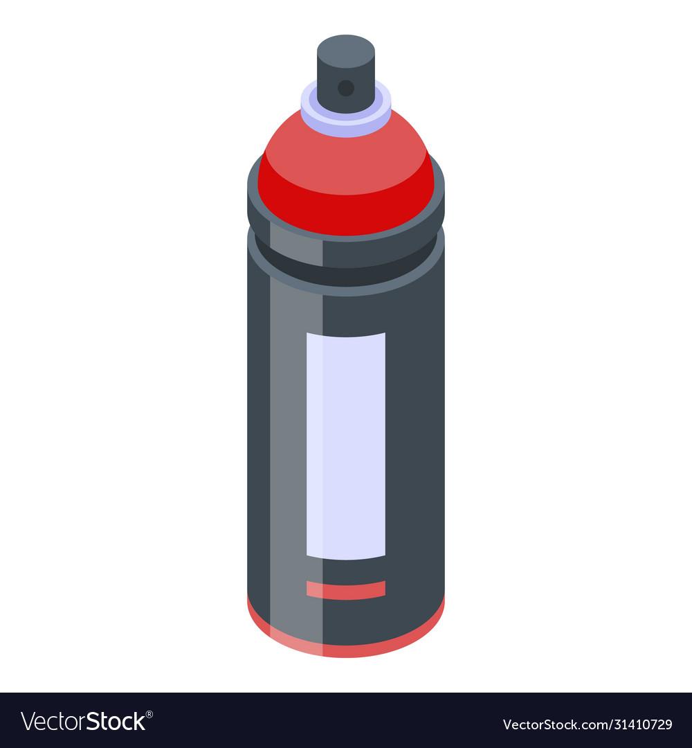 Paint spray bottle icon isometric style