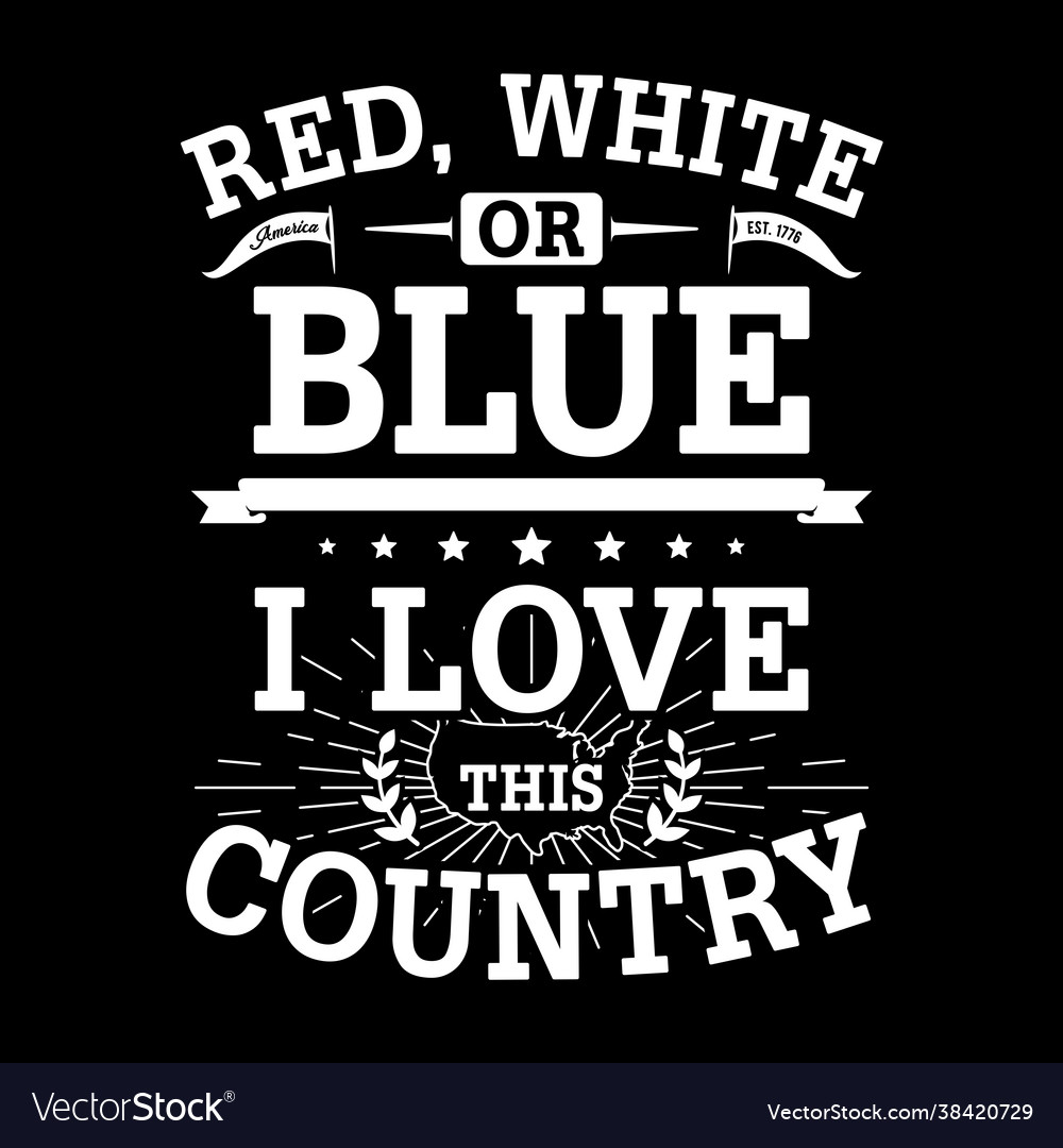 Red white or blue - american typography