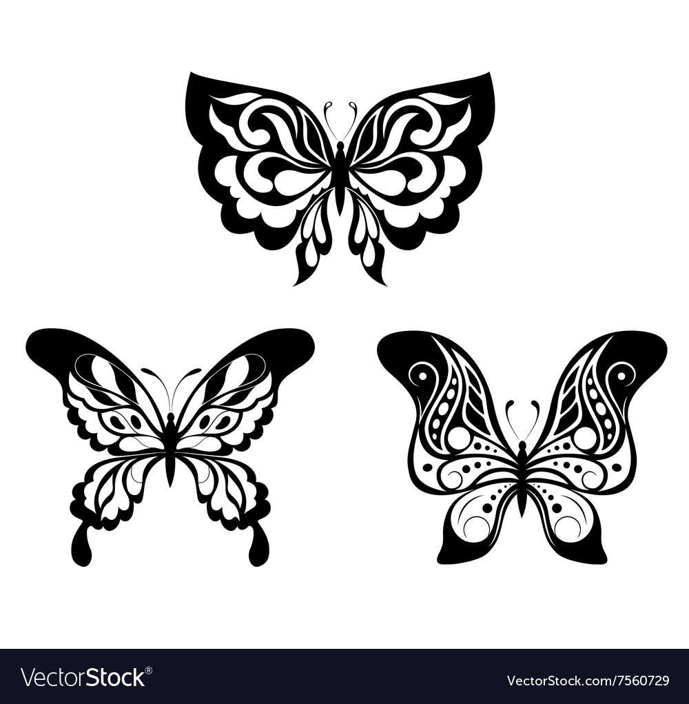 Black White Butterfly Clipart | Free Images at Clker.com - vector clip art  online, royalty free & public domain