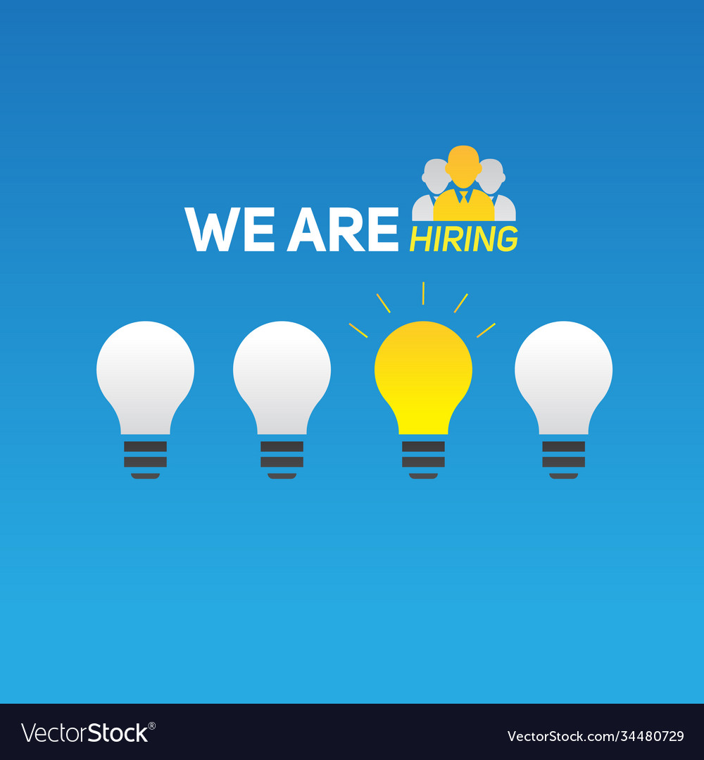 We are hiring card concept