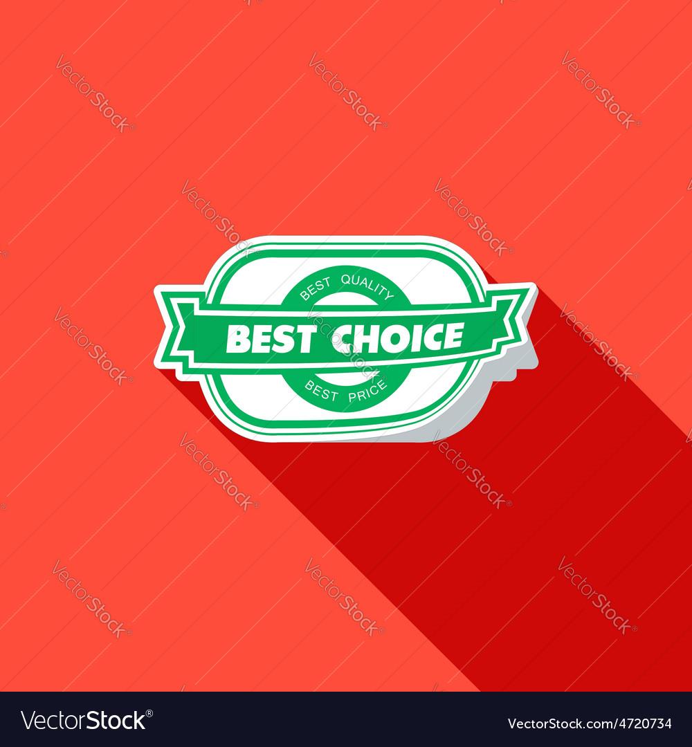 Best choice label Flat