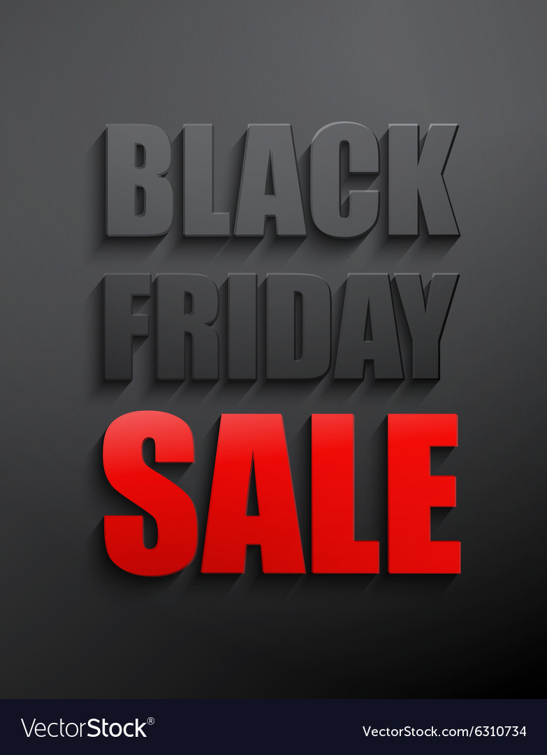 Black friday sales typographic poster
