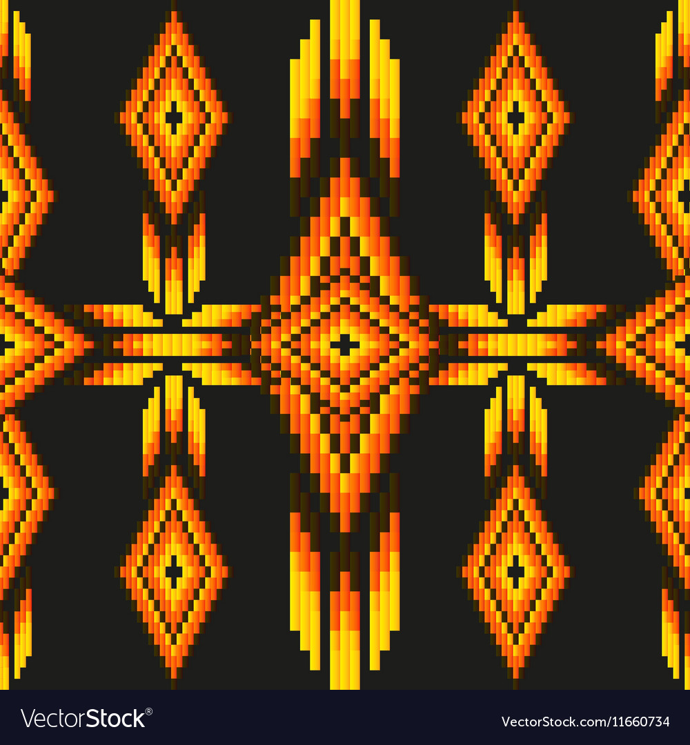 Bright acid colored ethnic South America abstract