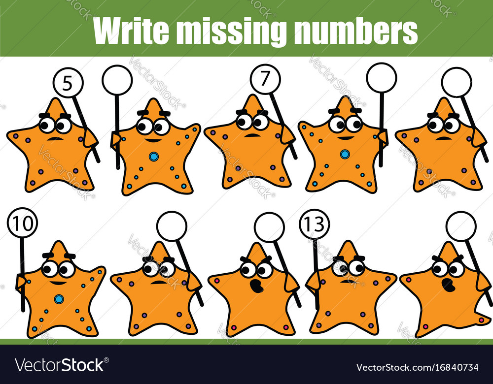 Mathematics educational game for children write
