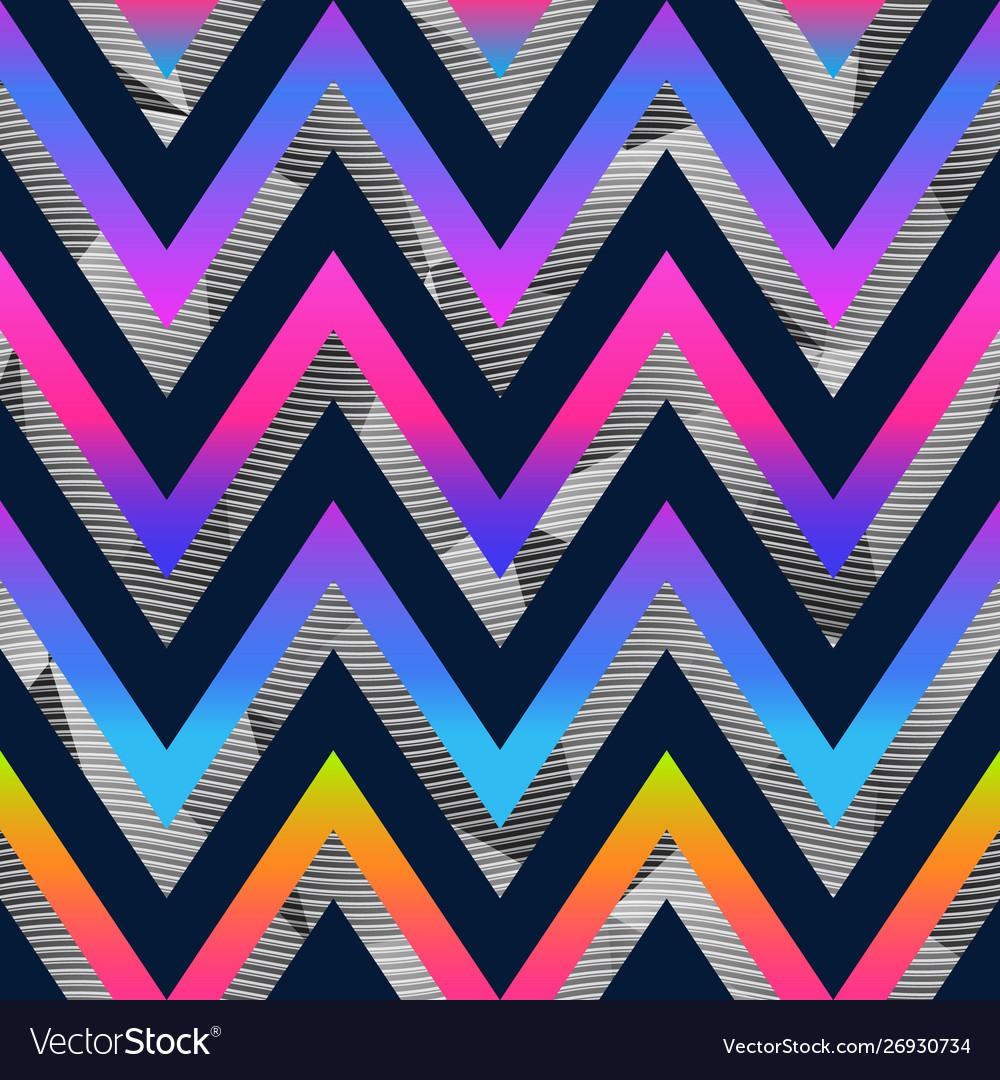 Rainbow zigzag seamless pattern